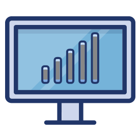 Desktop icon showing a graph