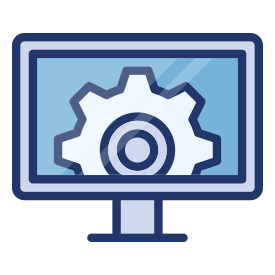 Desktop showing a cog icon