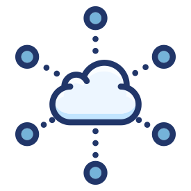 Cloud IT Software Icon