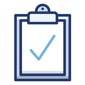 Icon of paper on a clipboard