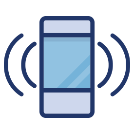 Vibrating mobile phone icon